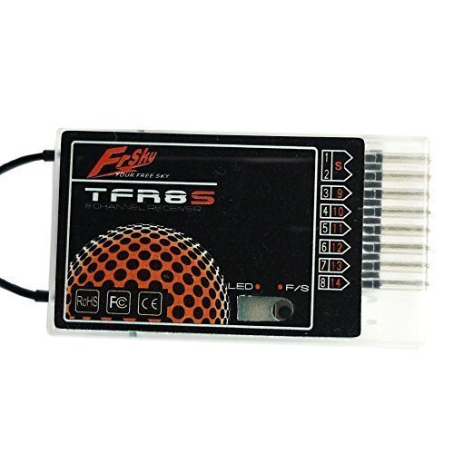 FrSky 2.4G 8-Channel Compatible Receiver TFR8S (Two TFR8S can be parallelled to 16 Channels Receiver)