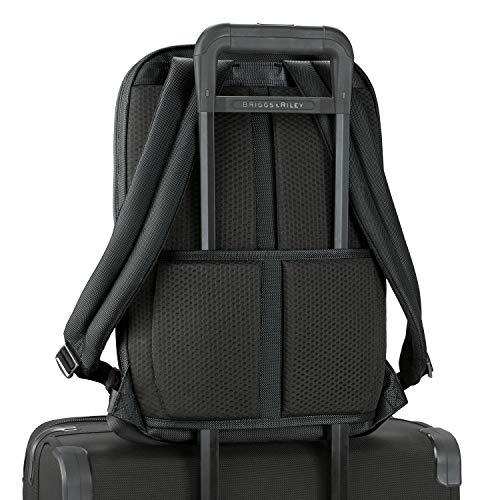 Briggs & Riley Unisex's @Work Medium Slim Backpack, Black, 43 cm