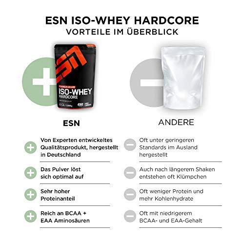 ESN IsoWhey Hardcore, Pro Series, Blueberry Cheesecake, 1er Pack (1 x 1000g Beutel) - 2