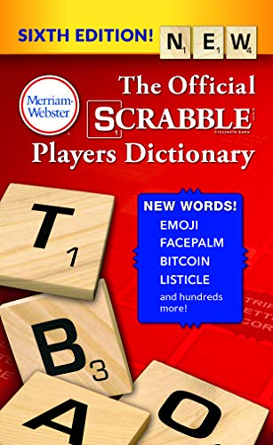 The Official SCRABBLE Players Dictionary, Sixth Ed. (Mass Market Paperback) 2018 Copyright, by Merriam-Webster