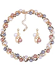 YouBella Necklace Set Jewellery Set for Women (Multi-Colour) (YBNK_5659)