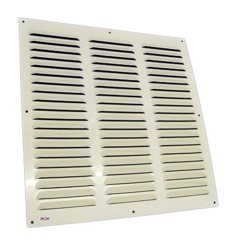 Lüftungsgitter LG-4040 W Alu Weiß 400 x 400 mm Abluftgitter Lamellengitter Wetterschutzgitter