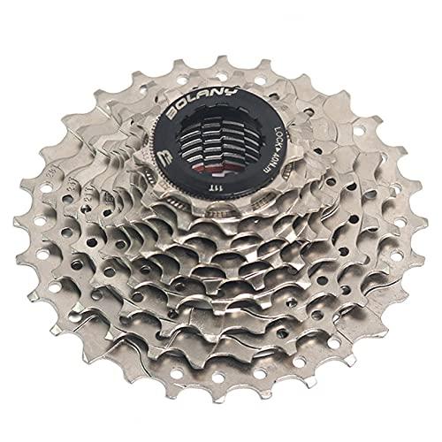 SLTYLV 10 índice de Velocidad 11-28T MTB Cassette de Bicicleta Freewheel Pieza de Bicicleta de Plata Rueda Dentada, Adecuada para la Rueda de Bicicleta XD/Cassette