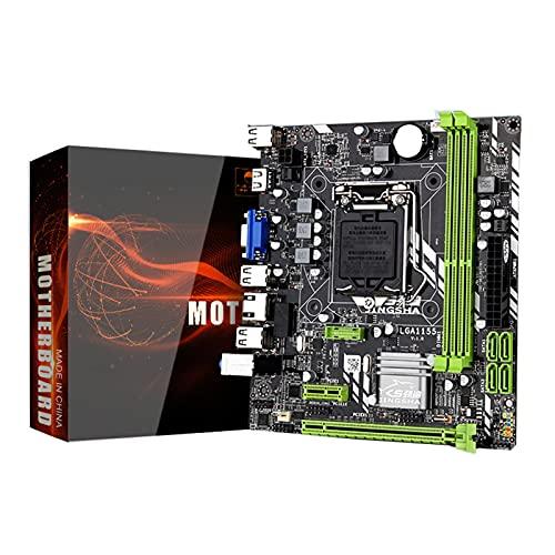 Placa Base del Juego, Soporte LGA1155 Pin con Procesador I3 / I5 / I7CPU, Placa Base De Estado Sólido, DDR3 De Doble Canal, Interfaz VGA Que Se Puede Utilizar