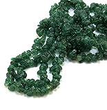 Neerupam Collection Indio Verde aventurina Naturales de Piedras Preciosas Oscuro sin Cortar Cuentas...
