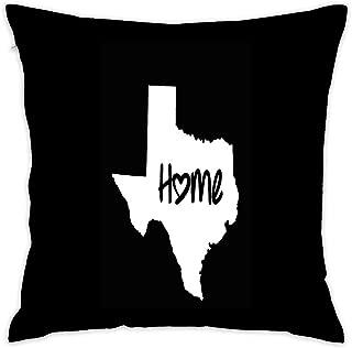 Texas Home Austin TX Longhorns Cowboys Cotton Throw Pillow Cover Square 18x18 Inch Decorative Cushion Cover Throw Pillowcase for Home Couch Sofa Car
