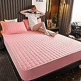 HAIBA Colchón de protección contra ácaros para tornear - colchón | protector de colchón | cama con somier, 90 x 200+30 cm (3 piezas)