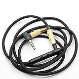 Lovinstar 1,6 m Replacement Câble Audio Pour AKG K450 Q460 K451 K480 microphone Mic contrôle pour iPhone Samsung