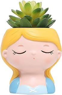 Princess Planter Succulent Plant Pot Fairy Tale Flowerpot Cute Girl Flower Planter Flowerpot, Creative Design Lovely Littl...