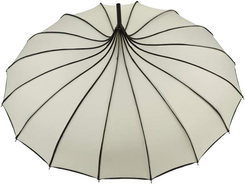 pagode Alftek Parapluie de Pluie pour vin Parapluie Anti-UV White