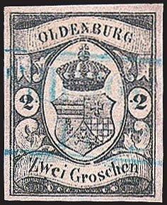 Goldhahn Oldenburg Nr. 7 gestempelt Briefmarken für Sammler