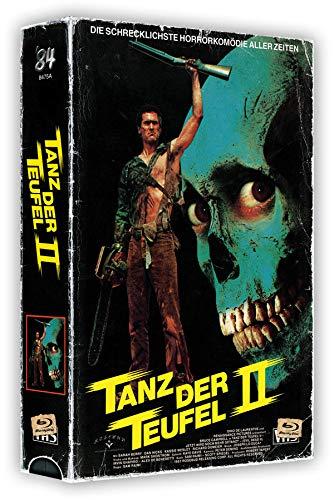 Tanz der Teufel 2 - 3-Disc VHS-Box mit Poster - Cover A - Uncut  (4K Ultra HD) (+ Blu-ray 2D) (+ Bonus-Blu-ray)