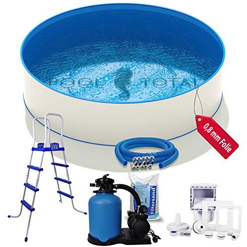 Pool-Set Komfort+ Ø 4,50 x 1,20m, 0,6mm Stahl, 0,8mm Folie mit Keilbiese