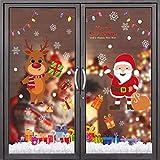 Flysee Pegatinas Navidad para Ventanas, adornos navideños, Pegatina Copo de Nieve Navidad, Decoración de Navidad para Ventana de Casa y Tienda
