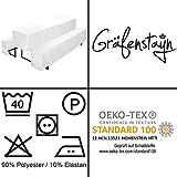 Gräfenstayn® Valentin - Biertischhussen-Set 3 tlg für Bierzeltgarnitur - 50cm oder 70cm Tischbreite - mit Öko-Tex Siegel Standard 100 :