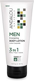 Andalou Naturals Men Energizing Body Lotion with CannaCell , 8.5 Fl Oz