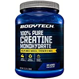 100 Pure Creatine Monohydrate Unflavored 5 GM/Serving Supports Muscle Strength Mass (32 Ounce Powder) by BodyTech