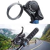 Palanca de cambio de bicicleta, marcación de 6 velocidades, dedo TX30, transmisión, bicicleta de montaña, diseño ergonómico, accesorios para bicicleta de montaña de bajo ruido, manillar