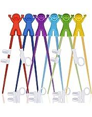 6 pares de palillos de entrenamiento fáciles de usar con ayudantes, palillos de entrenamiento de SourceTon para diestros o zurdos, adolescentes, adultos principiantes.