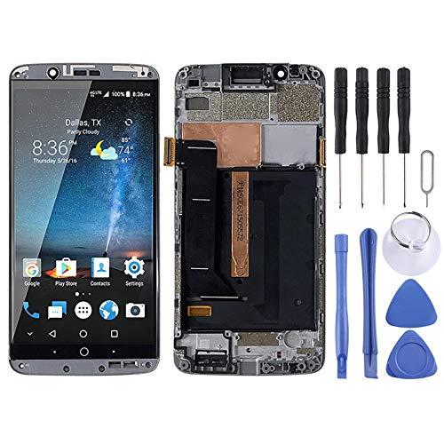 WANGZHEXIA Repuestos móviles Pantalla LCD de Material AMOLED y ensamblaje Completo del digitalizador con Marco para ZTE Axon 7 A2017 A2017U A2017G
