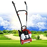 FLYHERO 2HP 2 Stroke 52cc Mini Garden Tiller Cultivator, Gas Powered Gas Powered Mini Tiller Cultivator Farm Plant Garden Yard Lawn Tilling Soil Tools US Stock