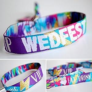 WEDFEST Festival Hochzeit Armband Hochzeit Gefälligkeiten – WEDFEST Armbänder Festival Hochzeit