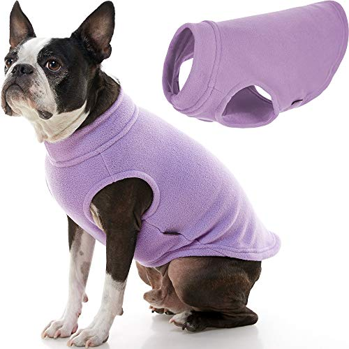 Gooby Stretch Fleece Dog Vest - Lavender, X-Large - Pullover Fleece Dog Sweater - Warm Dog Jacket Winter Dog Clothes Sweater Vest - Dog Sweaters for Small Dogs to Large Dogs for Indoor and Outdoor Use
