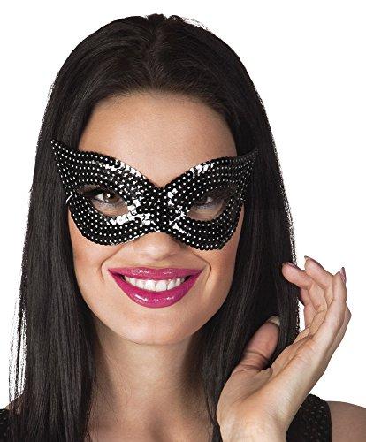 Boland 500247 Masque pour les yeux à paillettes Noir