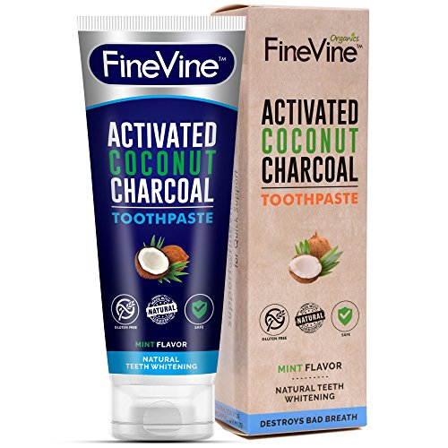 100% Natural Charcoal Teeth Whitening Toothpaste| Charcoal Toothpaste Made in USA| Acti-vated Charcoal Toothpaste