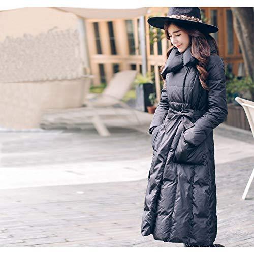 GDRFHJZ Nieuwe Winter Jas Warm Slim Was Lanky Modellen Om Women'S Mode Effen Kleur Verhogen
