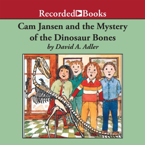 Cam Jansen and the Mystery of the Dinosaur Bones audiobook cover art