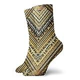 goodsale2019 Novelty Funny Sock Golden Striped Tiled Greek Key Meanders Printed Sport Athletic Socks 30 cm Long Personalized Tube Socks Gift Socks