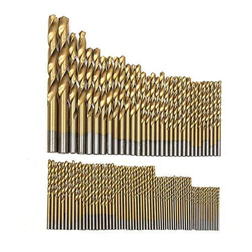 Malayas 99pcs/Set Titanium Coated HSS High Speed Steel Drill Bit Set Tool 1.5mm - 10mm Drill Bit For Wood Plastic Aluminum