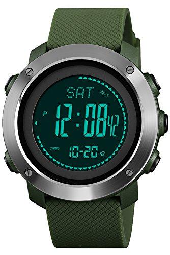 Reloj digital para hombre, altímetro, barómetro, brújula, militar, deportivo, electrónico, multifunción, podómetro