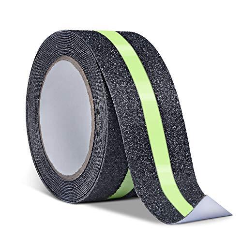 Anti-slip Grip Tape Gloeiend in Donker, Niet Slip Lijm Trapdraden, Hoge Tractie Veiligheid Tape voor Trappen Trappen Decking, 5m x 5cm