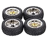 Honelife DX5 4PCS 1/10 Rubber Tire RC Racing Car Tires for HSP Redcat
