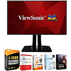 "ViewSonic AUTHORIZED DEALER - Includes Full ViewSonic USA WARRANTY ViewSonic 32"" 4K UHD IPS Professional Monitor - VP3268-4K In The BOX INCLUDES: Monitor 
