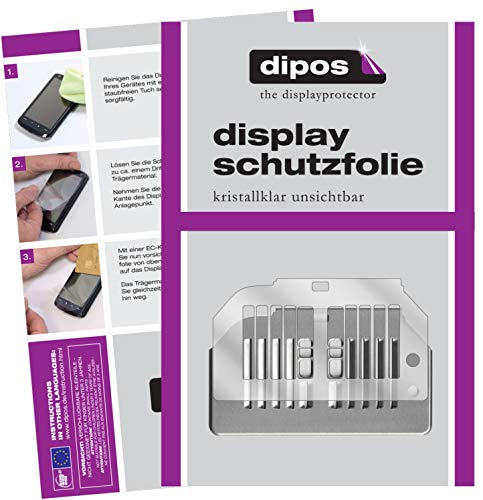 dipos 2X klare Schutzfolie kompatibel mit Siemens EQ.6 TE605509DE Series 500 Tropfblech I Kaffeevollautomaten I Abtropfblech I Abtropfgitter kompatibel mit Kaffee-Maschine