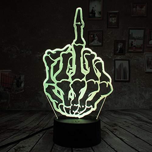 BFMBCHDJ 3d finger lampe nachtlicht touch schreibtischlampe 7 farbe optische täuschung led usb batterie licht weihnachtsgeschenke dekor licht kind licht