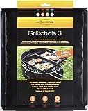 Grillschale 28x35x4cm | Wiederverwendbare Auflaufform für Elektrogrill, Camping Grill & Holzkohlegrills mit Antihaftbeschichtung | Grill Zubehör
