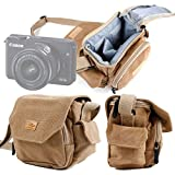 DURAGADGET Bolso/Canvas para Cámara Evil Canon EOS M10 | Panasonic Lumix GX7 | Nikon 1 J5...