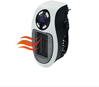 Best Ning Mini Calentador Ventilador Calefactor Home Office Mini Mini Calentador 500W Seguridad Mini Ventilador eléctrico portátil Adecuado para el hogar/Oficina/Camper