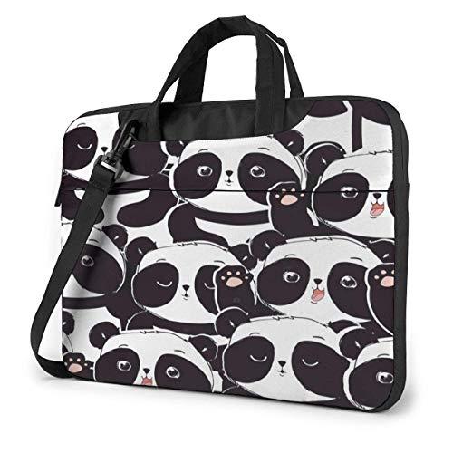 XCNGG Shockproof Laptop Bag Cartoon Lovely Panda Bear Shoulder Messenger Bag Tablet Carry Handbag for Business Office