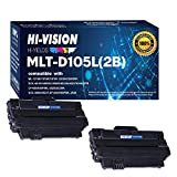 (2xBlack) HI-VISION HI-YIELDS, Compatible 105L MLT-D105L Toner Cartridge Replacement [2,500 Pages], Used in Samsung SCX-4623F, SCX-4623FN, SCX-4623FW, ML-2525, ML-2525W, ML-1910, ML-1915, ML-2540, ML-