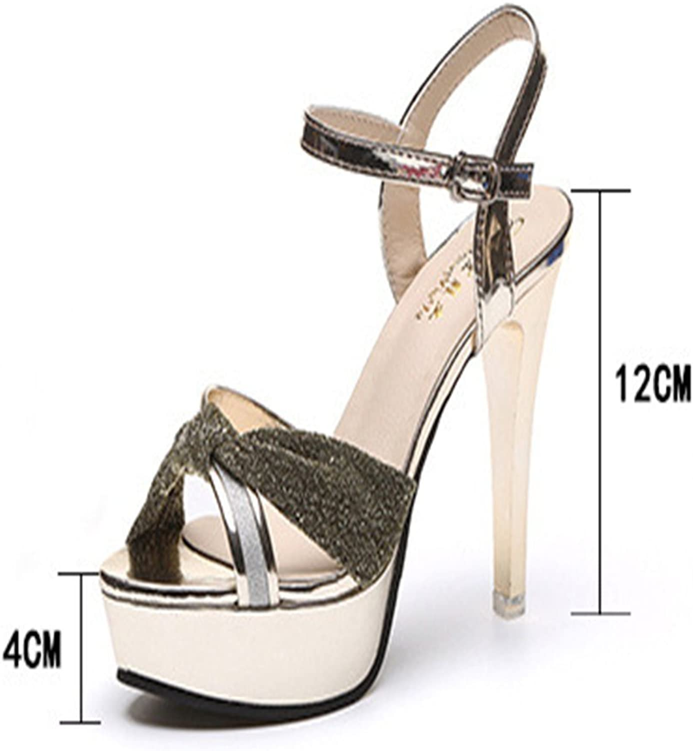 T-JULY Womens Ladies Fashion Sexy High Heels Open Toe Slip On Platform Pumps Stiletto Dress Party Wedding shoess