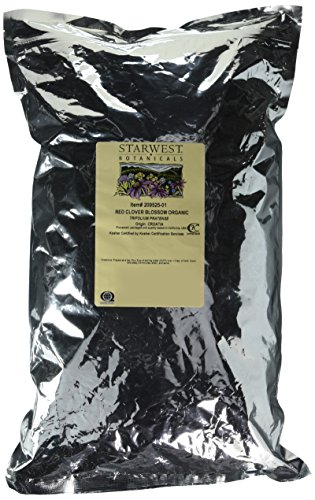 Organic Red Clover Blossom Whole 1LB