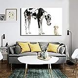 Modernos carteles e impresiones de perros mascotas, arte mural, lienzo, pintura, gran danés y lindas imágenes de cachorros decoran las paredes de la habitación40x60cm