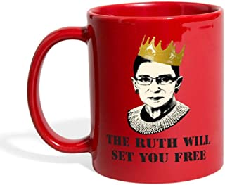 Notorious RBG The Ruth Will Set You Free Full Color Mug, red