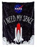 Calhoun NASA I Need My Space Rocket Plush Throw 50' by 60' Blanket