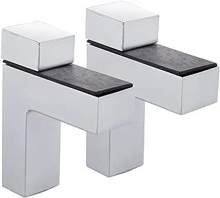 KES HSB301A-2-P2 Solid Metal Adjustable Wood/Glass Shelf Bracket Wall Mount 2 Pcs or One Pair, Brushed Nickel